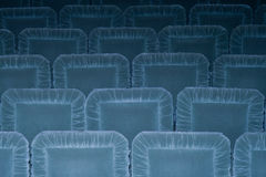 Empty seats. In a  theater recently restored. The building was built between 1899-1901. It was projected by an italian architect, baroque style. It is still in Stock Photography