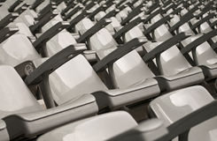 Empty seats. Many empty seats in a sports arena. Taken in Stade de France, Paris Stock Image