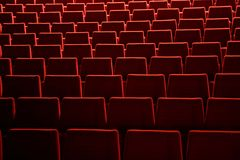 Empty seats. Red seat in a theater Stock Image