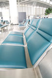 Empty seats in airport Royalty Free Stock Photos