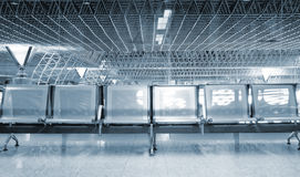 Empty seats in an airport Stock Images