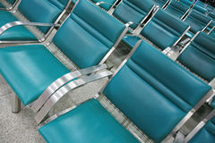 Empty seats in airport Royalty Free Stock Image