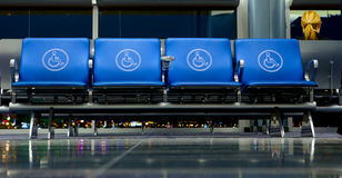 Empty Seats at Airport Gate. Handicap Stock Photos