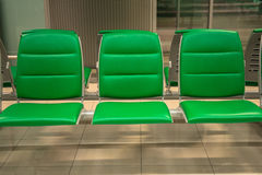 Empty seats in airport Royalty Free Stock Photography