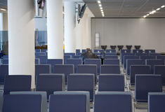 Empty Seats of Airport Terminal Royalty Free Stock Images
