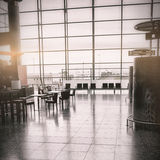 Empty seats at airport terminal Stock Photography