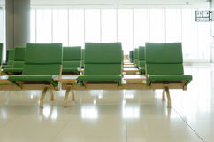 Empty seats at airport Royalty Free Stock Photo