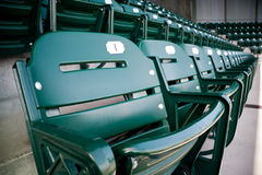 Empty Seats at a Baseball Stadium Stock Photos