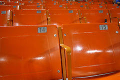 Empty seats at the baseball stadium - low attendance. Low attendance - empty seats at the baseball stadium Stock Photography