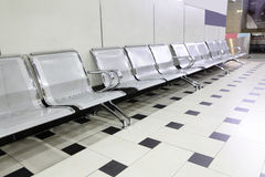 Empty seats at a building Royalty Free Stock Image