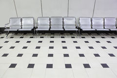 Empty seats at a building Stock Image