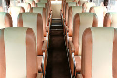 Empty seats on bus. Rows of empty seats on a bus Stock Image