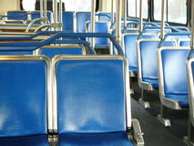 Empty seats in a bus Royalty Free Stock Photos