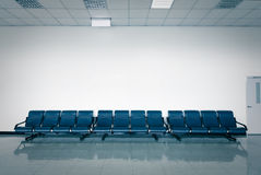 Empty seats at a business building Stock Photo