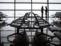 Empty seats at the departure lounge in the Airport Stock Images