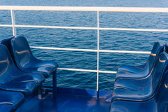 Empty seats on a ferry Stock Photography