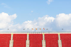 Empty seats in  a football stadium Stock Photo