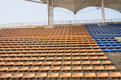 Empty seats of grandstand Royalty Free Stock Images
