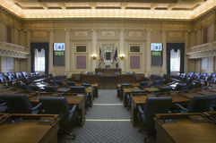 Empty seats of House of Representatives Chamber Stock Image