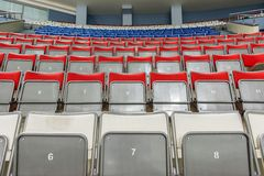 Empty seats on ice arena Stock Photos