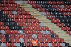 Free Empty Seats In A Stadium At A Soccer Game During The Covid-19 Outbreak And Matches Without Spectators Stock Photos - 187064833