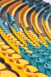 Empty seats at modern gymnasium Stock Images