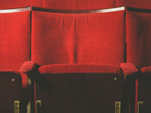Empty seats in movie theater Stock Photography