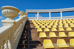 Empty seats in a open-air theate Royalty Free Stock Photo