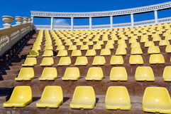 Empty seats in a open-air theatre Royalty Free Stock Photography