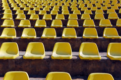 Empty seats in a open-air theatre Stock Photo