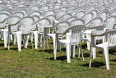 Empty seats, outdoor concert Royalty Free Stock Photo