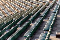 Empty seats in outdoor stadium Royalty Free Stock Photography