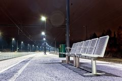 Empty Seats at the Railway Station Royalty Free Stock Photography