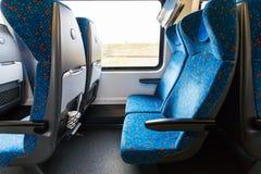 Empty seats in railway wagon Stock Image