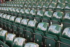 Empty seats spectator grandstand Stock Image