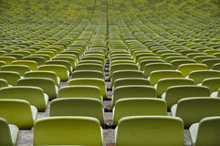 Empty seats of a sport stadium Royalty Free Stock Images