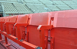Empty seats  before the sporting event Stock Photo
