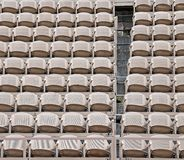 Empty seats  before the sporting event Royalty Free Stock Photos