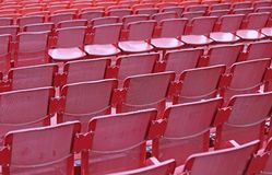 Empty seats  before the sporting event. Many empty seats in the stands before the sporting event Stock Photography