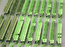 Empty seats  before the sporting event. Many empty seats in the stands before the sporting event Royalty Free Stock Photo