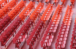 Empty seats  before the sporting event. Many empty seats in the stands before the sporting event Royalty Free Stock Photos