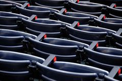 Empty seats in stadium Royalty Free Stock Images