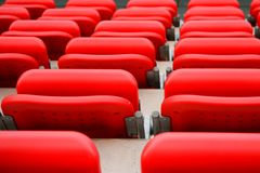Empty seats at stadium Stock Photo