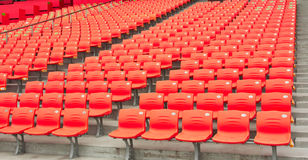 Empty seats of the stadium Stock Photos