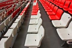 Empty seats of the stadium Stock Images