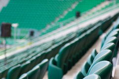 Empty seats at the stadium Royalty Free Stock Image