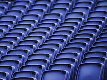 Empty seats in a stadium Royalty Free Stock Photos