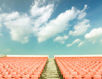 Empty seats at the Stadium Royalty Free Stock Photo