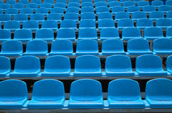 Empty seats in a stadium Royalty Free Stock Image