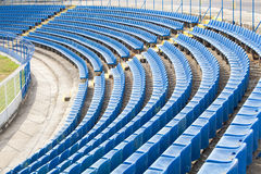 Empty seats on the stadium Royalty Free Stock Photo